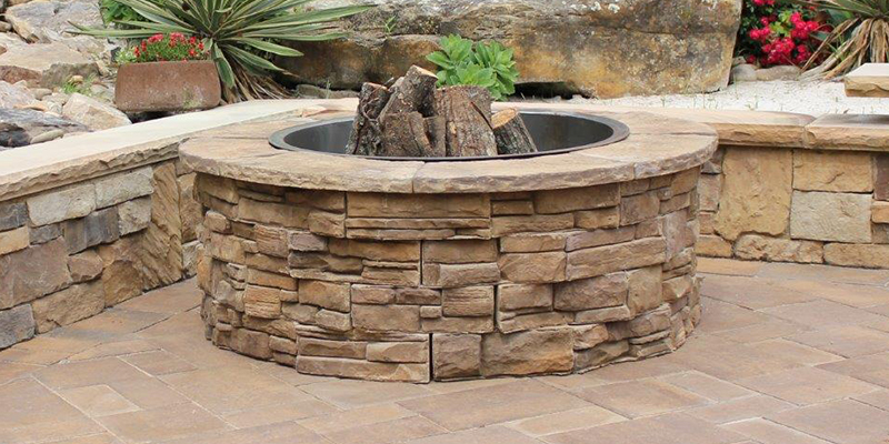 Patio Retaining Wall Outdoor Fire Pit