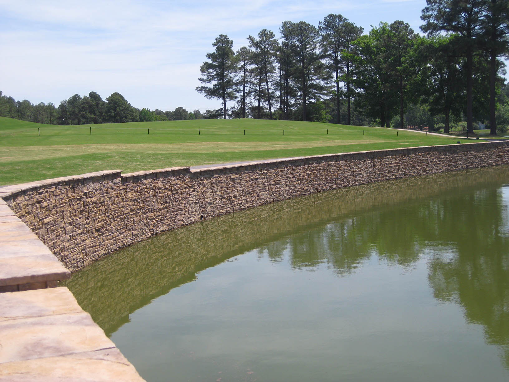 Use retaining walls for water management.